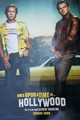 Once Upon a Time in Hollywood Intl  A Original Movie Poster Double Sided 27x40