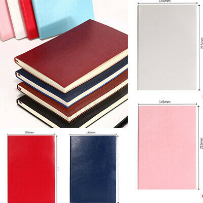 8 Color Soft Cover PU Leather Notebook Writing Journal 100 Page Lined Diary Book