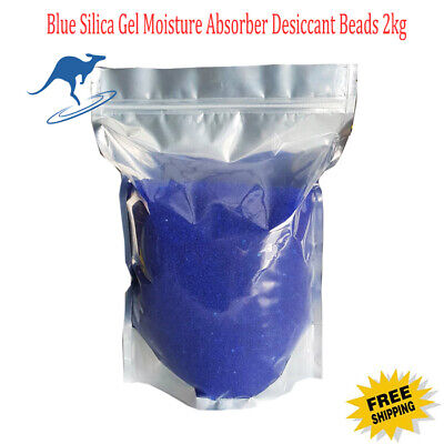 2kg Blue Silica Gel Beads Moisture Absorber  Indicating Desiccant