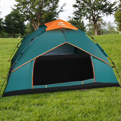 Double Layer Instant Auto Pop Up Large Camping Family Tent Outdoor 3-4 Persons