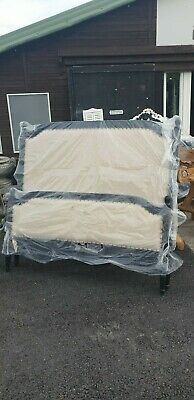 Distressed French Style Upholstered King Size Bed (No4) Delivery Avail