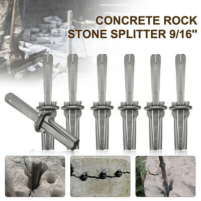14x 9/16'' Plug Wedge and Feathers Shims Quarry Rock Stone Splitter Hand Tools