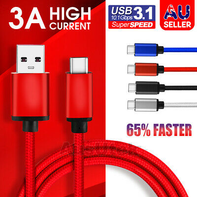 USB-C 3.1 Type C Data Cable Fast Charging For Samsung S10 + S9 S8 Note 10 9 A70
