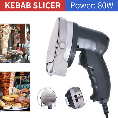 80W Electric Kebab Knife Doner Cutter Slicer Meat Carver Machine Blade Shawarma