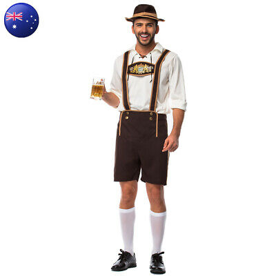 Bavarian Guy Oktoberfest Fancy Dress Lederhosen German Beer Men's Costume