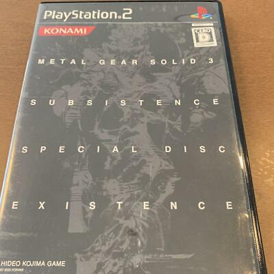 SONY PS2 Games - METAL GEAR SOLID 3 SUBSISTENCE *EX+ CONDITON* Japan Inport