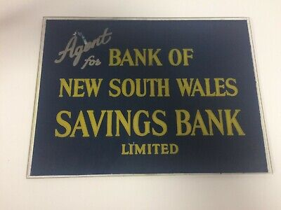 Bank of NSW Savings Bank Limited Perspex Sign Approx 30cm x 23cm