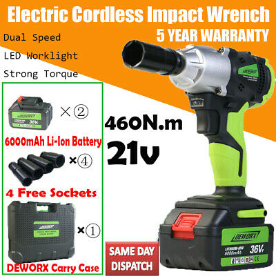DEWORX ELECTRIC 1//2 DRIVE 21V ELECTRIC IMPACT WRENCH RATCHET RATTLE NUT GUN
