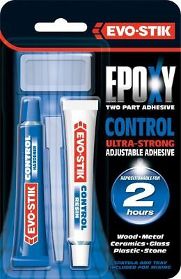 Evo-Stik Epoxy CONTROL Tubes 30ml Two Part Adhesive Ultra Strong Bonds In 2 Hrs