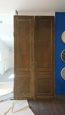 Extra Large Dutch Wooden Double Doors / Grand / Vintage / Antique / Tall