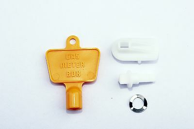 GAS / ELECTRIC METER BOX/DOOR REPAIR KIT Inc LATCH/LOCK plus KEY.