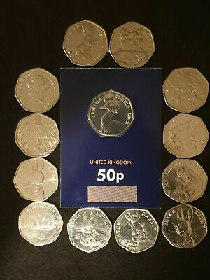 BEATRIX POTTER 50p COINS 3 FULL SETS  2016 /17/18 & Sealed Jemima Puddleduck