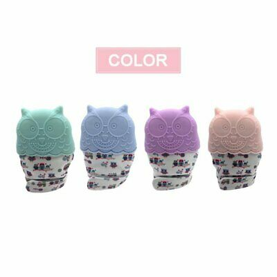 Owl Baby Teething Self Soothing Pain Relief Stimulating Teether Toy Gloves OK
