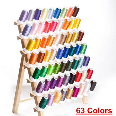 Polyester Sewing Embroidery Machine Thread Yarn Kit Crafts 63 Color 500M Spools