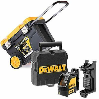 Dewalt DW088K Self-Levelling Cross Line Laser Level + 24'' Tool Chest on Wheels