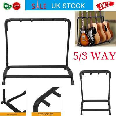 5 /3 Way Multi Guitar Stand Electric Guitar Rack Holder Support  Floor Stand UK