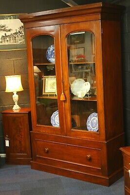Lovely Victorian Mahogany Bookcase / Display Cabinet