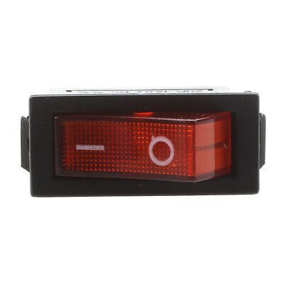 AC 16A/250V 20A/125V Red Light Illuminated On Off SPST Boat Rocker Switch x A3D6