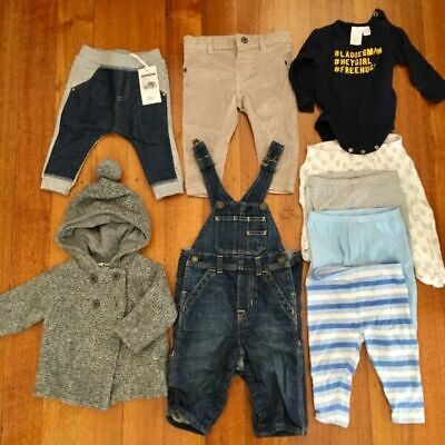 Boy size0 winter clothing 13 items (pure baby, cotton...)