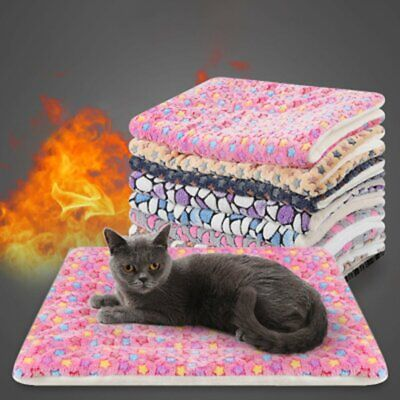 Flannel Comfortable Pets Bed Cushion Mat Pad Dog Cat'S Cage Warm House Mat%y1