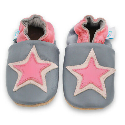 SECONDS Dotty Fish Soft Leather Baby Toddler Star Shoes Non-Slip Girls Prewalker