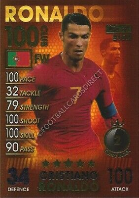 Match Attax 101 Cristiano Ronaldo 100 Club 2019 Juventus / Portugal