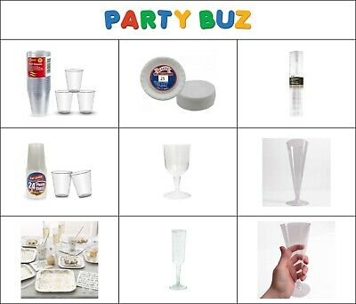 Party Tableware clear plastic Plates and glass Disposable