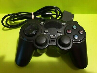 Black PS2 -🕹️Playstation 2 Dualshock Controller with Turbo 🕹️ FREE POST