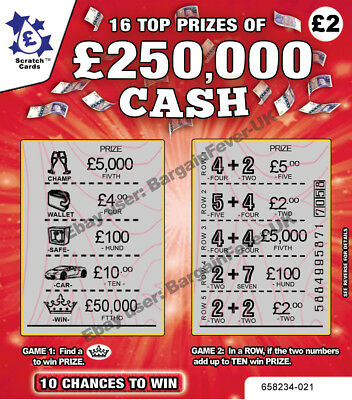 Wedding Favours Favor - Fake Joke Lottery Scratch Cards Tickets  Win £50,000 Lol