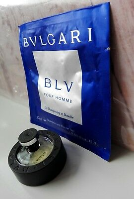 e162aa3adb BULGARI BLACK MINIATURA PROFUMO UOMO EDT 5 ml+BLU HOMME SHOWER GEL 10 ml  VINTAGE