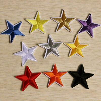Star Embroidery Sew Iron On Patch Badge Clothes Applique Bag Xmas Sa Fabric Q8H3
