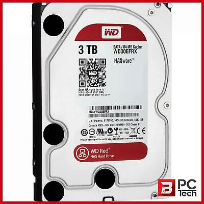 "WD WD30EFRX 3TB Red 3.5"" IntelliPower SATA3 NAS Hard Drive"