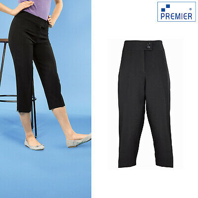 Black Ladies polyester wool workwear trouser size 20 and 22 FT05