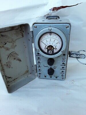 Vintage Weston Ohmmeter Ohms Model M-970 Metal  box