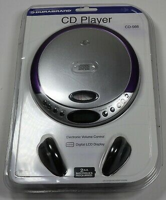 Factory Sealed Durabrand CD-566 Programmable CD Player + Headphone Set