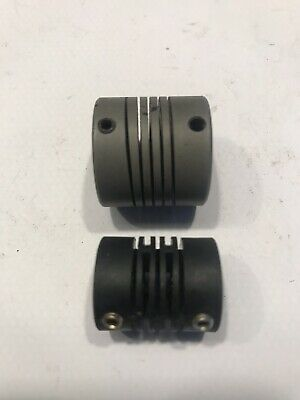 2 X Flexible Coupling, 1 Nylon With 8mm Bore & 1 Aluminium With 6mm Bore