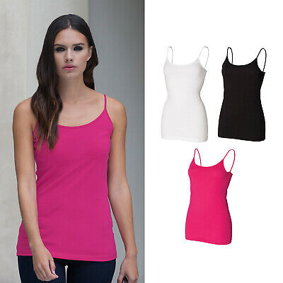 SF Spaghetti Vest with Adjustable Straps (SK212) - Fitted Sleeveless Top