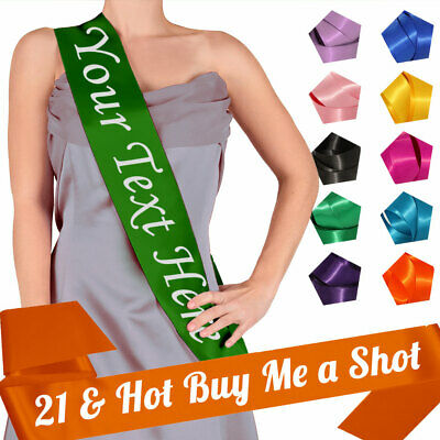 21 & Hot Buy Me A Shot Party Sash 21st Birthday Going Out Night Accessory Gift