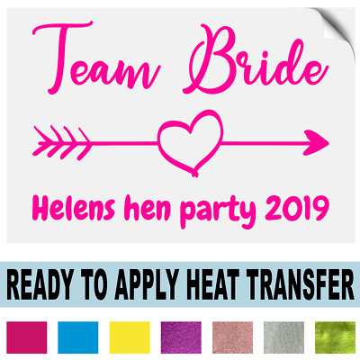 Hen Do Party Bride To Be Tribe Personalised Iron on Transfer T-Shirt Vinyl 2019
