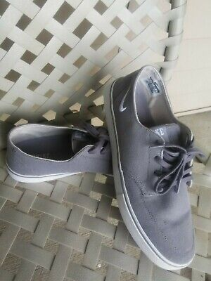 e8b250360 Nike SB Braata LR Canvas Mens Size 10.5 Gray Canvas Boat Shoes 477650-422