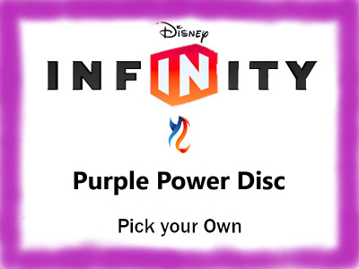 Disney infinity Purple/Blue Power Disc's
