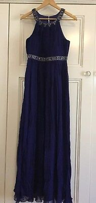 Forever New Size 10 Purple Beaded Silk Formal Dress Worn Once