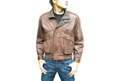 1970's Authentic Leather Jacket-Vintage Coat- Motorcycle/Biker Style-Men's Small