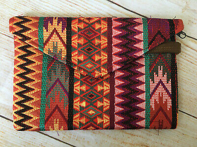 Handmade Embroidered Mexican Clutch Bag Purse Envelope Style Boho Southwestern
