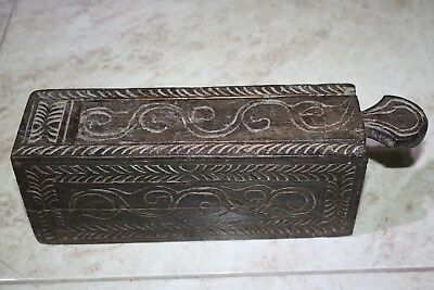 Antique India Rosewood Lidded Spice Box Samruddhi Keralan Museum Quality 1890's