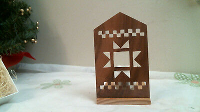 WOOD SCROLL SAW DESING candle holder - home decor HAND CRAFTED