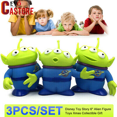 """3Pcs/Set Bisney Toy Story 6"""" Alien Figure Toys Xmas Collection Display Gift"""