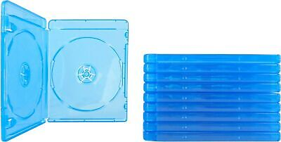 (10) Empty Standard Double Blue Replacement Boxes/Cases for Blu-Ray Disc Movi...