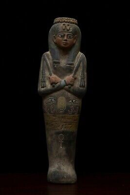 Egypt Egyptian Statue Antiques Queen Pharaonic Mummy Shabti Carved Stone 1494,Bc