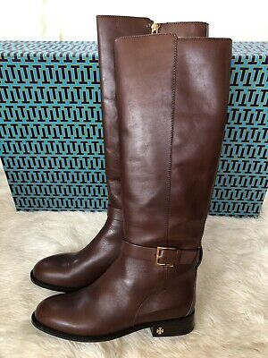 34d3d0779 New $498 Tory Burch Brooke 25Mm Knee High Leather Boot Perfect Brown 7.5